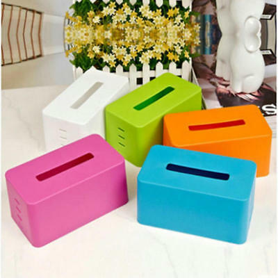 Plastic facial tissue napkin box toilet paper dispenser case for Home & Car Use