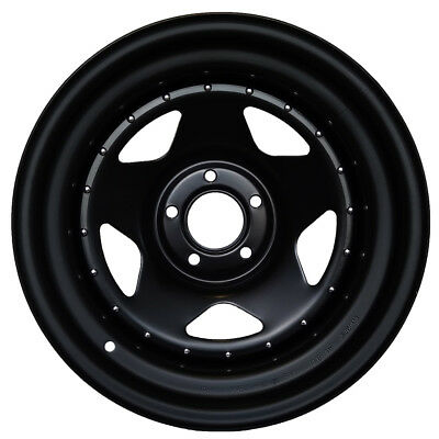 16X7 John Red Steel Rims Wheels Black Matt, 5X165,1 Et 0 Defender Disco Set Of 2