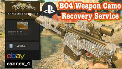 Call of Duty Black ops 4 Bo4 CAMO Gold weapon Account Service PS4