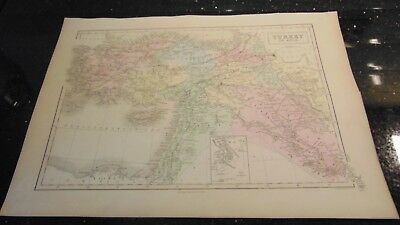 Circa 1850  Map Of Turkey In Asia - A & C Black