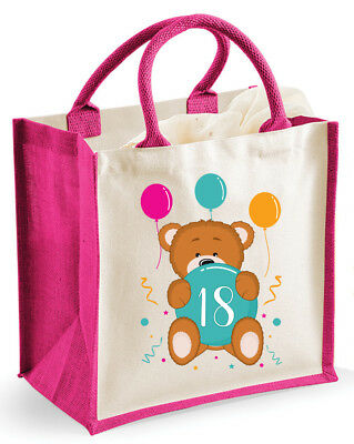 18th Eighteenth Birthday Girl Gift Bag Party Present Outfit Keepsake Supplies
