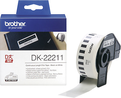 Brother DK-22211 Etiketten Rolle 29mm x 15.24m Folie Weiß 1 Rolle(n) Permanent D