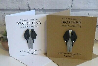 Personalised Will You Be My Best Man Card, Usher, Groomsman, Page Boy, Wedding