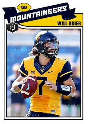 Aceo Will Grier West Virginia Mountaineers Custom Hand Made Art Card
