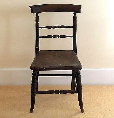 Antique Vintage Dining Chair with pretty Bobbin Turned Detail