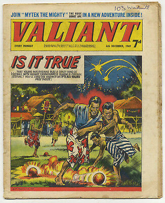 Valiant 6th Dec 1969 (mid-high grade copy) Steel Claw, Mytek, Kelly's Eye