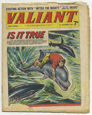 Valiant 1st Nov 1969 (mid-grade copy) Steel Claw, Mytek, Kelly's Eye