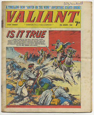 Valiant 9th Aug 1969 (near high grade copy) Steel Claw, Mytek, Kelly's Eye