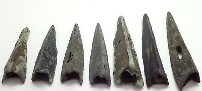 Bronze Arrowheads 7pc. Scythians 1100-600BC.