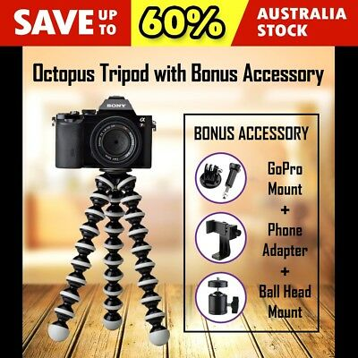 PRO XLarge Flexible Octopus Tripod Stand Gorilla pod For Phone GoPro Camera DSLR