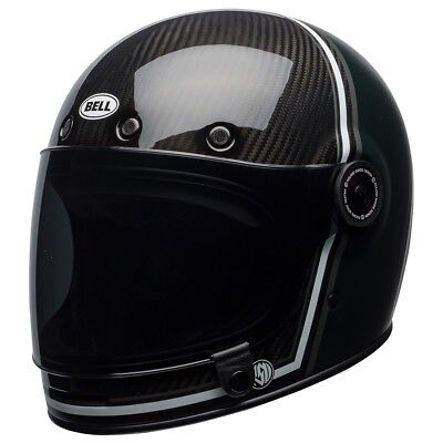 Bell Bullitt Carbon Motorcycle Helmet - RSD Green / Black (40% off) - ALL SIZES