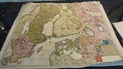 Circa 1650 Hand Coloured Map Regni Sueciae Tabula Generalis Divisa In Sueciae