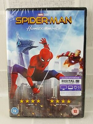 Spider-Man Homecoming DVD - New Sealed Fast  Free  UK Delivery