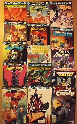 DC Universe Rebirth: Nightwing, Teen Titans, more..set of 15 DC Comics