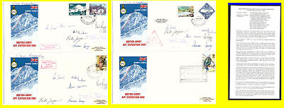 British Army API Expedition Covers x 4. 1980. Nepal/GB Stamps. Used. #385