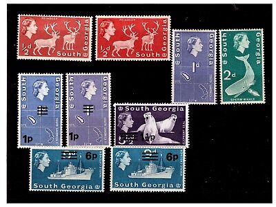 Falkland Islands (South Georgia) QEII Stamps Mounted Mint  lot-656