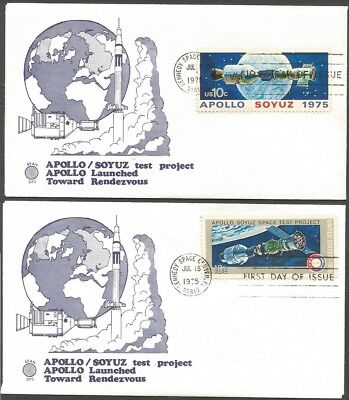 Us 1975 Apollo Soyuz 10C Stamps Launched Toward Rendezvous Bean Kennedy Space C
