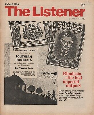 THE LISTENER (6 March 1980) JOHN HUMPHRYS ON RHODESIA - SKEGNESS - MANCHESTER