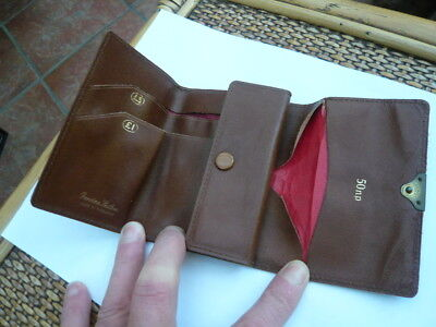Vintage Old 1970,s Retro Small Size English Leather Jacket Wallet & Coin Purse