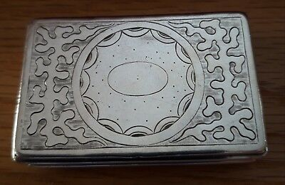 RARE Antique CHINESE EXPORT Early Silver Snuff box CANTON c1840 by Gothic 'K'