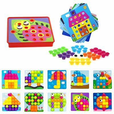 Preschool Learning Toys | Color Matching Mosaic Pegboard Set for 3+ Year Old Boy