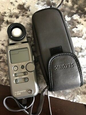 Sekonic L-358 Meter, with radio transmitter, With Case - Great Condition