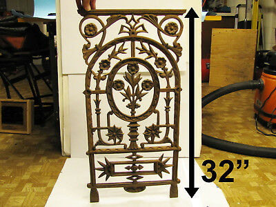 aesthetic movement cast iron grill grate architectural salvage screen grt detail