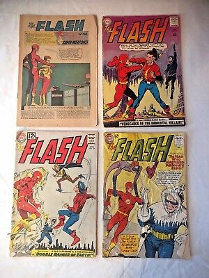 The Flash Silver Age Comic *Lot Of 4* #129, 134, 137, 135 Fair/Very Good