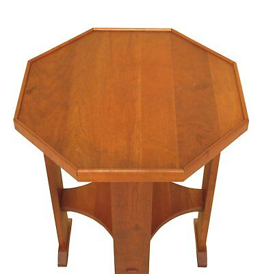 F30427EC: STICKLEY Octagonal Arts & Crafts Cherry End Table