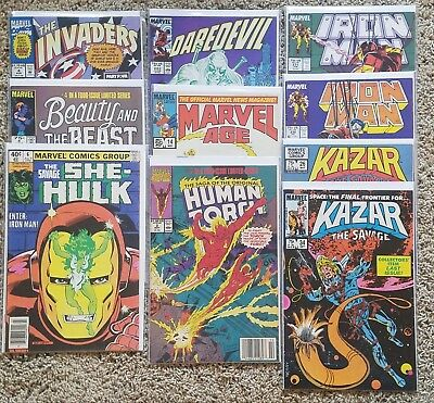 10 Book Lot Of Marvel Comics from the 80s. Higher grade