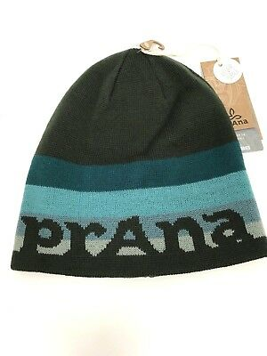 Prana Logo Beanie Reversible Spell Out Winter Unisex Hat One Size NWT  34 907f8d404fde