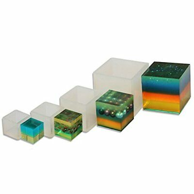 Yalulu 4Pcs Silicone Square Mold Mould Casting Resin for Jewelry Pendant Bangle