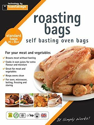 Toastabags Roasting Bags, 25 x 38 cm Standard Pack of 100, Transparent
