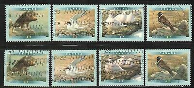 Canada 2001 Birds 2 Diff. Sets # 1886-1889 & # 1890-1893 Used Lt-P204.03