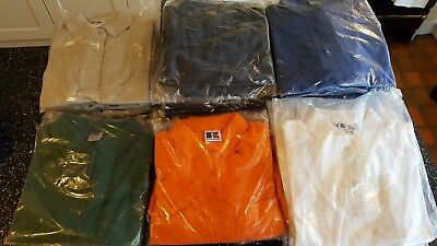 wholesale joblot womens clothes 44 pieces Russell Heavy ladies polo shirts .