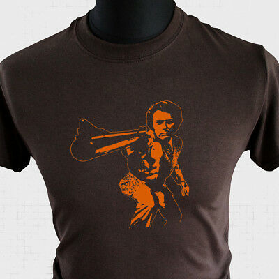 Dirty Harry New T Shirt Retro Movie 70's 80's Clint Eastwood Cool Vintage brown