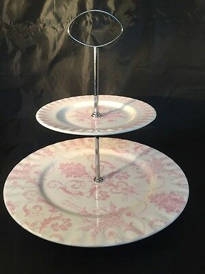 Laura Ashley Hand Decorated In England Cake Stand