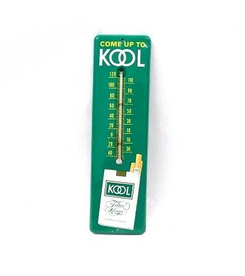 """Clean Vintage Kool Cigarette Tobacco Tin Thermometer Sign 12 1/4""""X 3 1/2"""""""