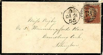 SG21 C4 1d Plate 6 On Mourning Envelope. Posted Within LONDON.