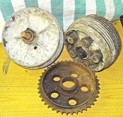 Amc Matchless Ajs Norton Heavyweight Front & Rear Wheel Hubs Vintage Barn Find