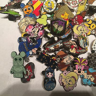 Disney Trading Pins Lot Of 75 100% Tradable - No Doubles -Fast Usa Shipping
