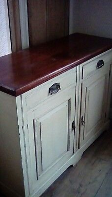 vintage shabby chic sideboard cupboard drawers a whitehead of chatham antique
