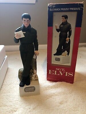 """very rare Elvis decanter and music box played """"GI blues"""""""