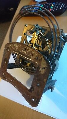 Vienna  Clock Movement And Frame gong Parts for restoration spares working other