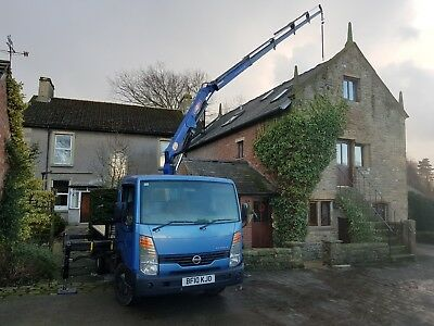 Mini Hiab Crane Hire / Light haulage- Lathes - Hot Tubs - Oil Tanks....