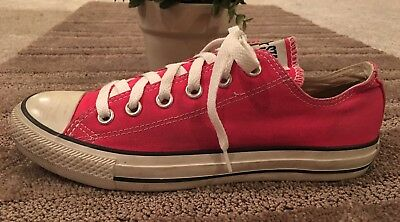 Converse Chuck Taylor All Star Men's 6 Women's 8 Low Top Hot Pink Sneakers Shoes