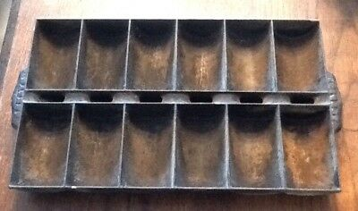 Antique Cast Iron French Roll Cornbread, Muffin Pan , patent applied.