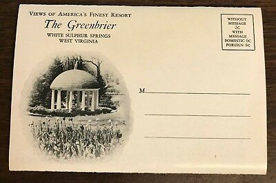 """Vintage """"Views of America's Finest Resort The Greenbrier"""" White Sulpher Springs"""