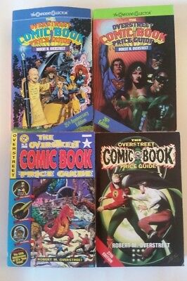 Lot of 4! Overstreet Comic Book Price Guides #25, 26, 27, and 30
