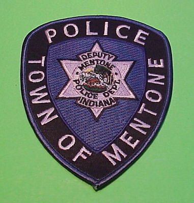 Mentone  Indiana  In  Deputy  Police Patch   Free Shipping!!!
